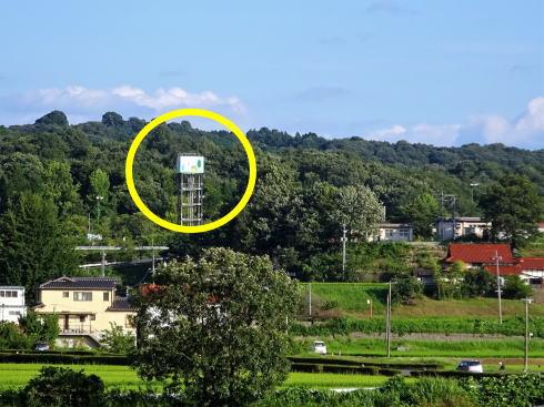 七塚原サービスエリア 俯瞰写真