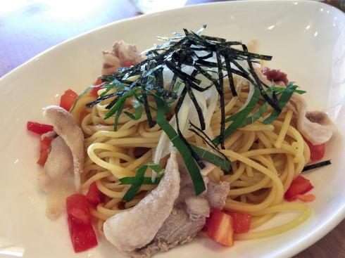 江田島オリーブファクトリー レストランでいただけるパスタ