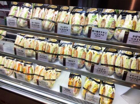 東広島市 フレスコ サンドカフェ サンドイッチショーケース