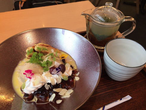 天満屋緑井店 和カフェ まるたか堂 紅茶プレートパフェ