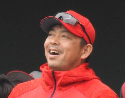 カープ石原・會澤選手、広商デパートでトークショー