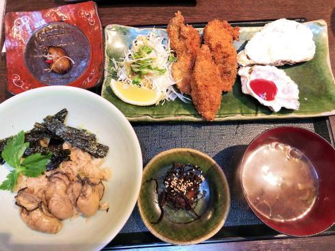 宮島 牡蠣屋 牡蠣屋定食