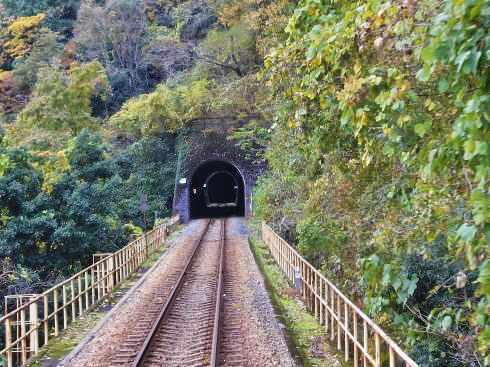 三江線 トンネルと線路