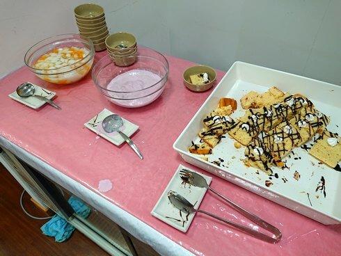 東広島市役所・展望ロビー食堂でバイキング