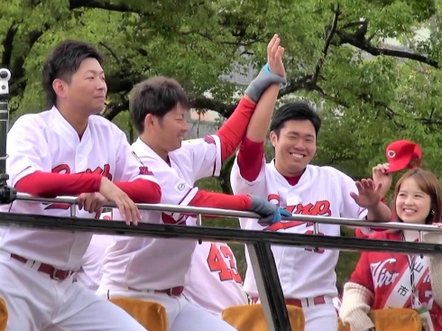 広島東洋カープ2017 優勝パレード 画像16