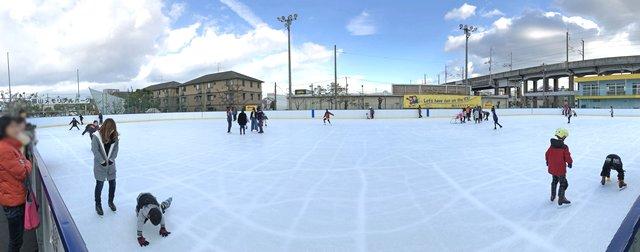 福山メモリアルパーク スケート場(アイスアリーナ)パノラマ写真