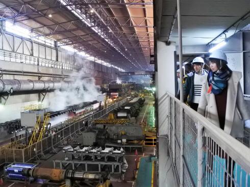 JFE福山工場見学会 圧延機工場の様子5