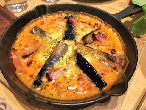 宇品 ラソラ イタリアンレストラン 茄子とベーコンのドリア