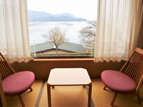 宮浜グランドホテル 部屋からの景色