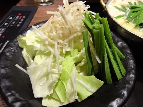 もつ鍋 田しゅう 広島店 野菜