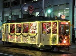クリスマス電車 写真
