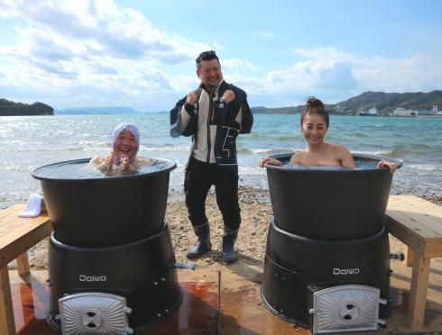 三原で冬の超希少絶景で朝っ風呂!ケンコバ番頭で「露天風呂トラックの旅2」