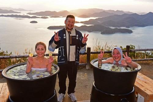 露天風呂トラックの旅2、広島では三原・筆影山