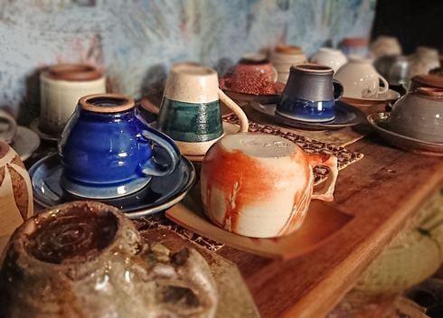 大崎上島の陶芸家カフェ「珈琲 陶」好きなカップを選べる楽しみも