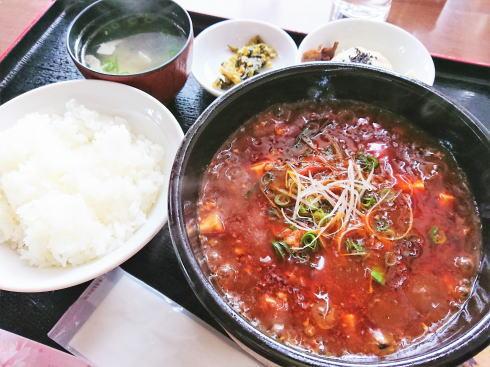 福山 チャイナレストラン 茶花 マーボーセット2