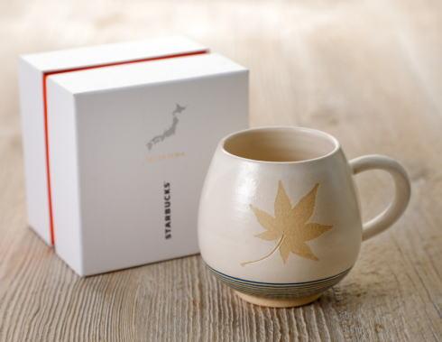 スタバとコラボ!宮島焼き(御砂焼)のコーヒーアロママグ Momiji 限定で
