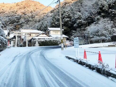 2月13日 寒波での広島県廿日市市の様子
