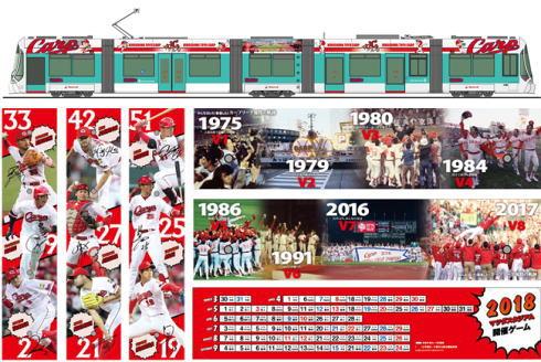 広島市内をカープ電車が走る!2018版ラッピング電車登場