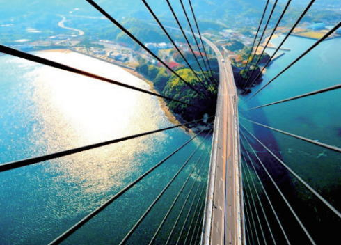 高さ222m!多々羅大橋の塔頂体験