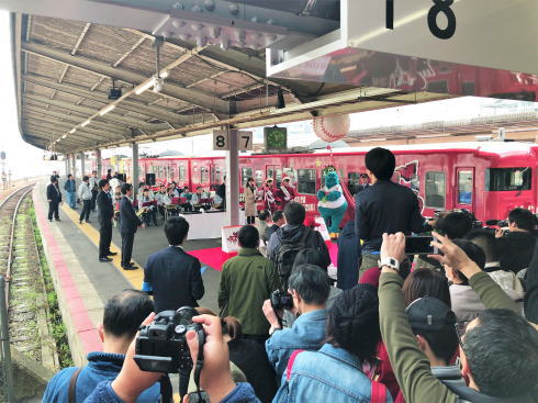 カープ電車2018 お披露目式典