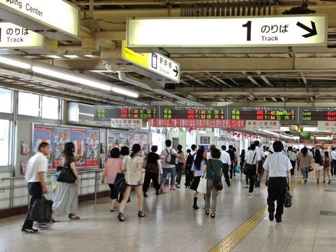 2012年、広島駅の跨線橋