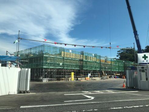 グランヴィリオホテル宮島口 和蔵の宿 建設中の様子2019.8