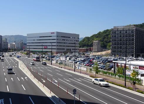 広島駅北口、広島テレビ建設地 前は駐車場だった