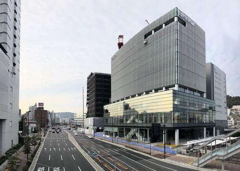 広島テレビ新社屋、ほぼ完成へ