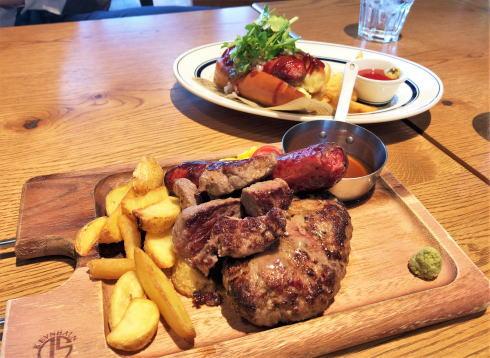 ニックストック、広島駅前のオシャレカフェでガッツリ肉食