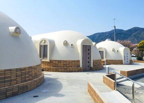ドーム型コテージ 誕生!呉市蒲刈・県民の浜にオープン