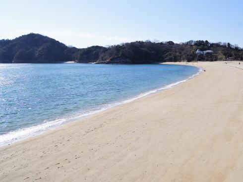 県民の浜 蒲刈 ドーム型コテージから見る景色