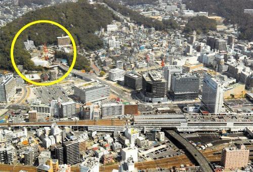 広島高速5号線、トンネル工事の現場