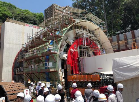 広島高速5号線、トンネル工事の現場見学会を実施