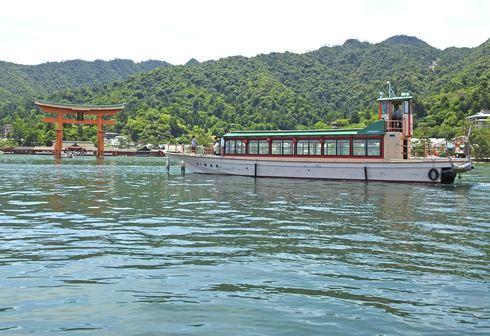 宮島の遊覧船