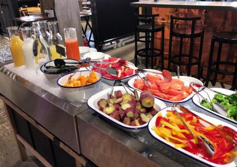 尾道U2、ホテルサイクル宿泊者の朝食例2
