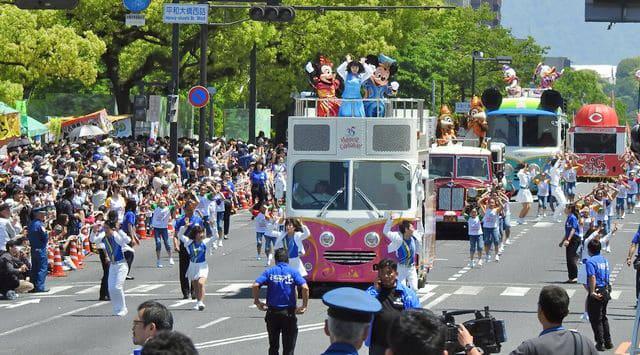 広島でディズニーパレード開催