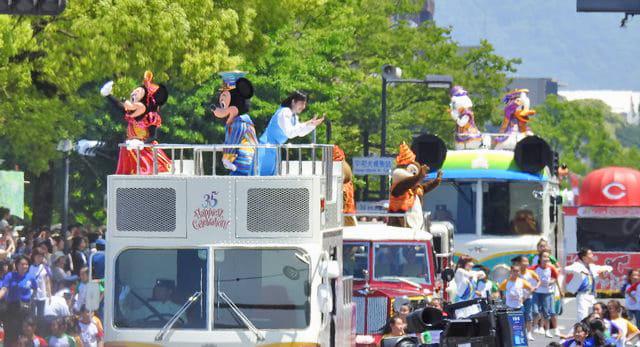広島でディズニーパレード!フラワーフェスティバル2018に華添え