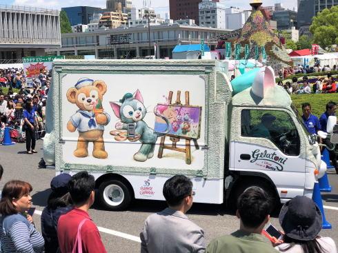 ジェラトーニワゴン、ふわふわボディの特別車両を広島で展示