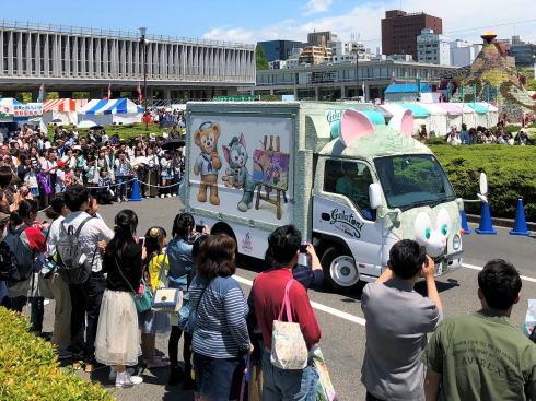ジェラトーニワゴン 広島で展示された様子4