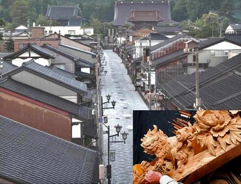 日本遺産 富山県、木彫刻美術館・井波