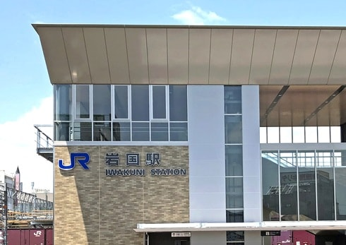 岩国駅が橋上化で新駅舎へ、完成した自由通路の様子