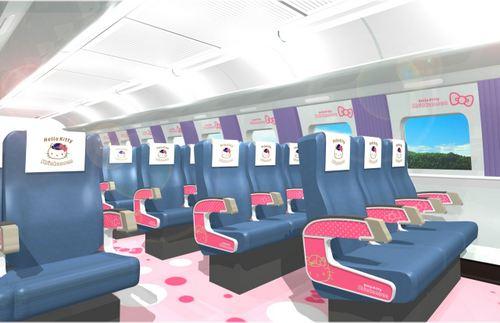 ハローキティ新幹線 内装1
