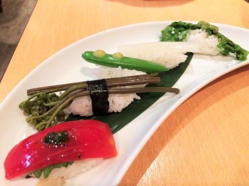 広島市中区 旬菜 すし鮮きずな屋 野菜寿司