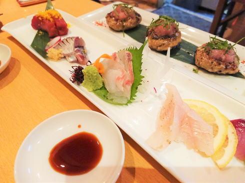 広島市中区 旬菜 すし鮮きずな屋 お刺身など