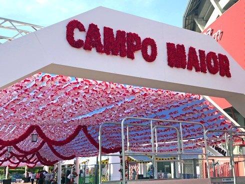 マツダスタジアム 広島にポルトガルの「紙花まつり」再現