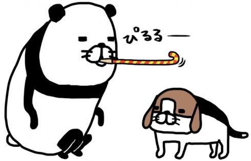 「パンダと犬」大人気ゆるかわマンガの無料キャンペーン、東京・広島など5箇所で
