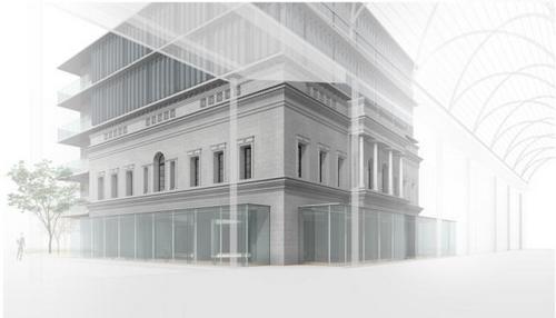 広島アンデルセン 建て替え工事着工、外観デザイン踏襲