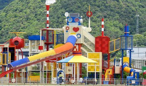 晴海臨海公園の大型遊具広場