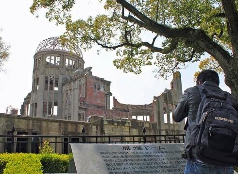 外国人に人気の広島平和公園・原爆ドーム