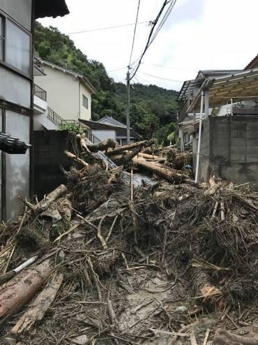 広島市安芸区矢野で土砂災害